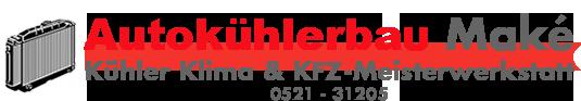 Logo von Autokühlerbau Maké, Ihrem Spezialisten für Kühlerbau, Klimaanlagen, Tankbau und KFZ-Service
